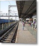 Indian Railway Station Metal Print by Sumit Mehndiratta