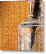 Ink Bottle Calligraphy Metal Print by Carol Leigh