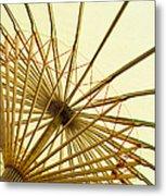 Inside Of Parasol Metal Print by Sam Bloomberg-rissman