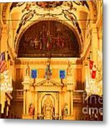 Inside St Louis Cathedral Jackson Square French Quarter New Orleans Film Grain Digital Art Metal Print by Shawn O'Brien