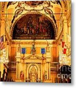 Inside St Louis Cathedral Jackson Square French Quarter New Orleans Ink Outlines Digital Art Metal Print by Shawn O'Brien