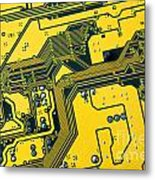 Integrated Circuit Metal Print by Carlos Caetano