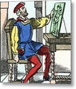 Invention Of Engraving, Medieval Europe Metal Print by Cci Archives