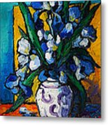 Irises Metal Print by Mona Edulesco