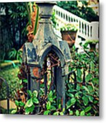 Iron Fence Detail Metal Print by Perry Webster