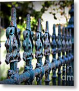 Iron Fence Metal Print by Perry Webster