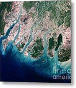 Irrawaddy River Delta Metal Print by Nasa