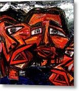 Is 3 Really A Crowd Metal Print by Karen Elzinga