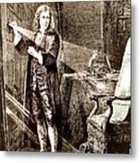 Isaac Newton Ray Of Light Metal Print by Science Source