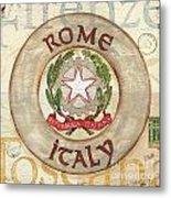Italian Coat Of Arms Metal Print by Debbie DeWitt
