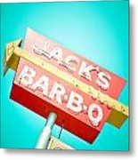Jack's Bar-b-q Metal Print by David Waldo