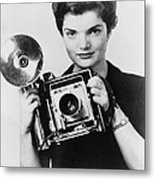 Jacqueline Bouvier As The Inquiring Metal Print by Everett