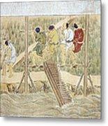 Japan: Irrigation, C1575 Metal Print by Granger