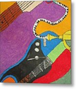 Jazz Trio Metal Print by Derril Foster