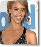 Jessica Alba At Arrivals For Premeire Metal Print by Everett