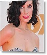 Jessica Pare At Arrivals For The 63rd Metal Print by Everett