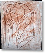Jesus The Good Shepherd - Tile Metal Print by Gloria Ssali
