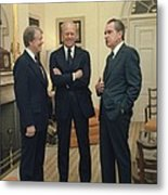 Jimmy Carter Gerald Ford And Richard Metal Print by Everett