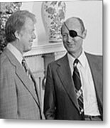 Jimmy Carter With Israeli Foreign Metal Print by Everett