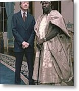 Jimmy Carter With Nigerian Ruler Metal Print by Everett