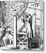 Johannes Hevelius And His Assistant Metal Print by Science Source