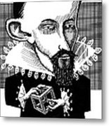 Johannes Kepler, Caricature Metal Print by Gary Brown