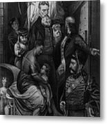 John Brown Meeting Slave Mother Metal Print by Photo Researchers