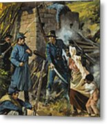 John Brown On 30 August 1856 Intercepting A Body Of Pro-slavery Men Metal Print by Andrew Howart