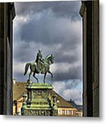 John Of Saxony Monument - Dresden Theatre Square Metal Print by Christine Till