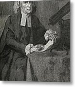 John Winthrop, Us Astronomer Metal Print by Science, Industry & Business Librarynew York Public Library