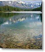 Johnson Lake Rocks Metal Print by Adam Pender