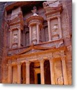 Jordan, Petra, The Treasury Metal Print by Nevada Wier