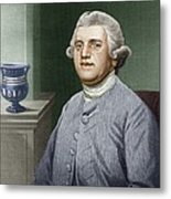 Josiah Wedgwood, British Industrialist Metal Print by Sheila Terry
