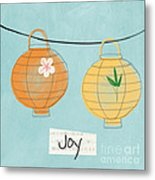 Joy Lanterns Metal Print by Linda Woods