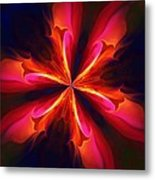 Kaliedoscope Flower 121011 Metal Print by David Lane