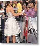 Kate Beckinsale Wearing An Elie Saab Metal Print by Everett
