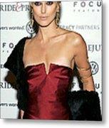 Keira Knightley Wearing A Calvin Klein Metal Print by Everett