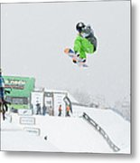 Kelly Clark Womens U S Snow Boarding Open 2011 Metal Print by Linda Pulvermacher