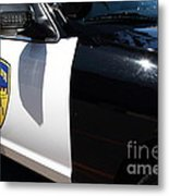 Kensington California Police Car . 7d15876 Metal Print by Wingsdomain Art and Photography