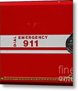 Kensington Fire District Fire Engine . 7d15866 Metal Print by Wingsdomain Art and Photography