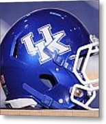 Kentucky Wildcats Football Helmet Metal Print by Icon Sports Media