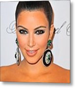 Kim Kardashian At Arrivals For The Metal Print by Everett
