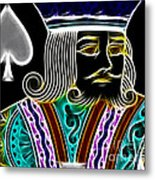 King Of Spades - V4 Metal Print by Wingsdomain Art and Photography