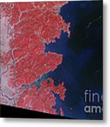 Kitakami River, Japan, After Tsunami Metal Print by National Aeronautics and Space Administration