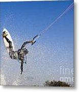 Kitesurfing Metal Print by Hagai Nativ