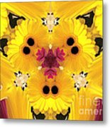 Kitty Petals Metal Print by Cheryl Young