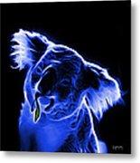 Koala Pop Art - Blue Metal Print by James Ahn