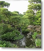 Kokoen Samurai Gardens - Himeji City Japan Metal Print by Daniel Hagerman
