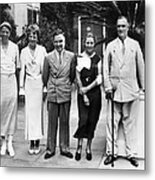L-r First Lady Eleanor Roosevelt Metal Print by Everett
