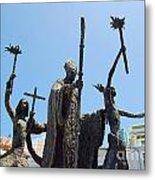 La Rogativa Statue Old San Juan Puerto Rico Metal Print by Shawn O'Brien